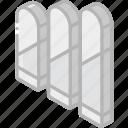 bars, graph, iso, isometric, lozenge icon