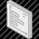 bar, graph, iso, isometric, tile icon