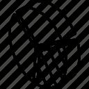 graph, iso, isometric, pie, third icon