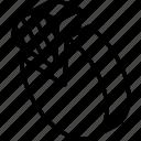 graph, iso, isometric, pie, quarter icon