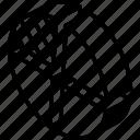 graph, iso, isometric, pie, quarters icon