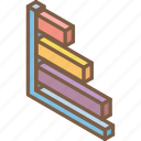 bar, chart, graph, iso, isometric icon
