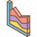 chart, graph, growth, iso, isometric icon