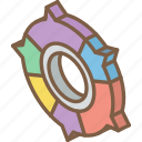 commented, doughnut, graph, iso, isometric icon