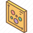 graph, iso, isometric, scatter, tile