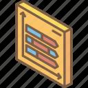arrow, graph, iso, isometric, tile