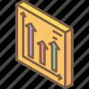 arrow, graph, iso, isometric, tile icon