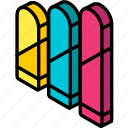 bars, graph, iso, isometric, lozenge icon