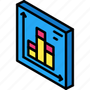 bar, graph, iso, isometric, tile
