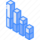 graph, isometric, iso, chart, bar