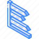 arrow, chart, graph, iso, isometric icon