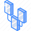connections, graph, iso, isometric icon