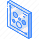 graph, iso, isometric, scatter, tile icon