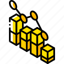 bar, graph, iso, isometric, scatter icon