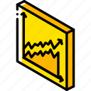 graph, growth, iso, isometric, tile icon