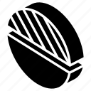 graph, half, iso, isometric, pie icon