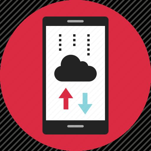 activity, cloud, data, digital, nano, storage, technology icon