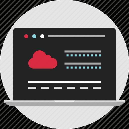 cloud, data, digital, load, nano, storage, technology icon