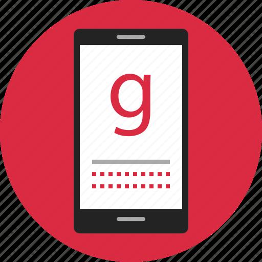 data, digital, google, nano, phone, search, technology icon