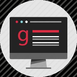 data, digital, google, nano, results, search, technology icon