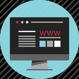 data, digital, hacked, nano, technology, web, www icon