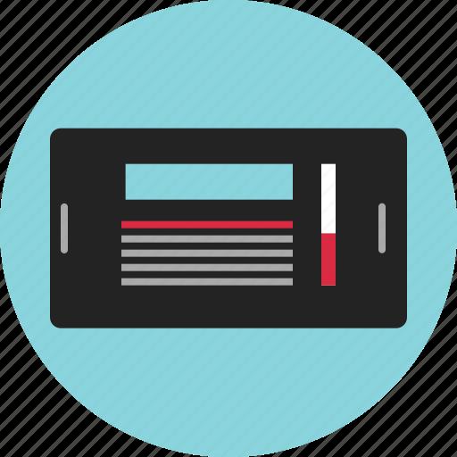 data, digital, mockup, nano, scrolling, technology, view icon