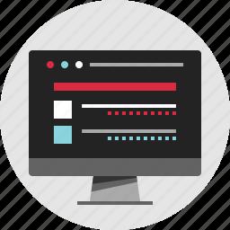 data, digital, in, nano, server, structure, technology icon