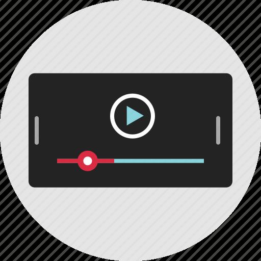 data, digital, landscape, nano, rotate, technology, video icon