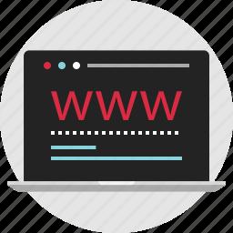 data, digital, nano, technology, visit, web, www icon