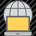 global server, internet server, online database, server hosting, web server icon