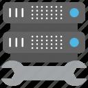database management, server configuration, server maintenance, server management, server repair icon