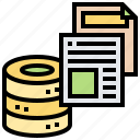data, information, performance, reporting, server icon