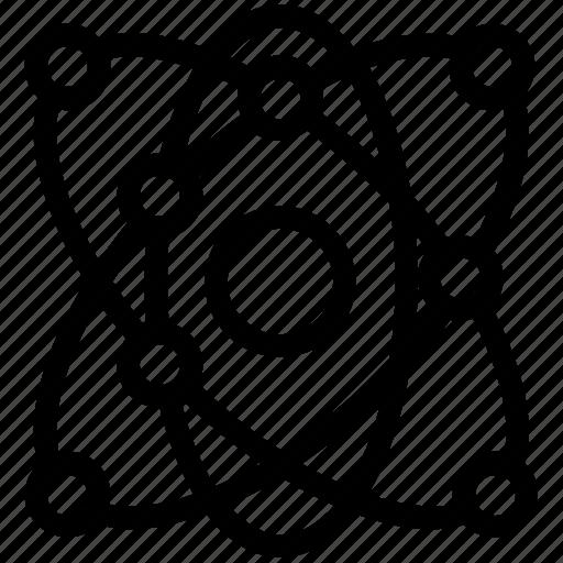 atom, atom symbol, atomic energy, nuclear sign icon