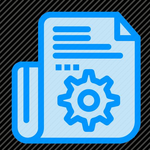 document, folder, setting, tools icon