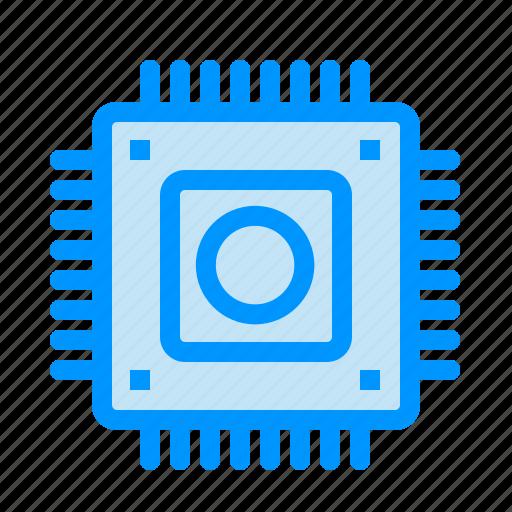 Chip, computer, hardware, microchip icon - Download on Iconfinder
