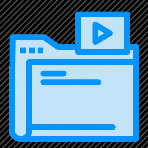 folder, media, movie, video icon