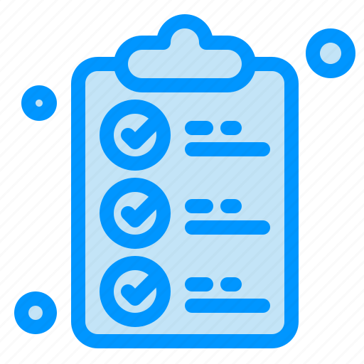 check, document, list, mark, shopping icon