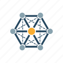 analysis, connection, data, information, network, seo, structure icon