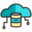 cloud, computer, data, database, network, server icon