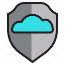 cloud, computer, data, network, security, server icon