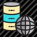 computer, data, database, network, server, world icon