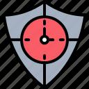 antivirus, ensure, shield, time, timer, timing, watch