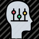 brain, brainstorming, idea, mind control, psychology, self control, self discipline icon