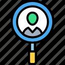 experience, investigate, profile, research, search, user, ux icon