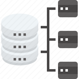 architecture, data, database, network, organization, server, structure icon