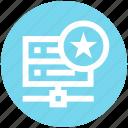 data, data science, database, server, star, storage icon
