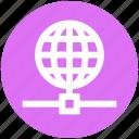arth, globe, network, science, world icon