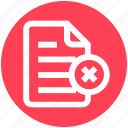 cross, document, file, list, page, paper, sheet