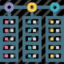 backup, base, computer network, data transfer, rack, servers, storage