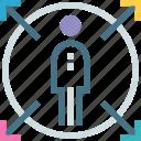automation, behavior, path, prediction, strategy, user, ways icon